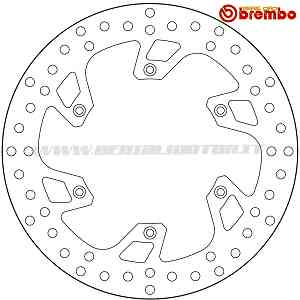 Brake Disc Fixed Brembo Serie Oro Front for Beta Xtrainer 250 2017 > 2019