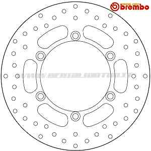 Brake Disc Fixed Brembo Serie Oro Front for Yamaha X City 125 2008 > 2011