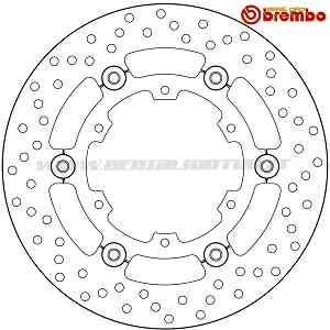 Brake Disc Floating Brembo Rear Ktm Super Adventure T 1290 {{year_system}}