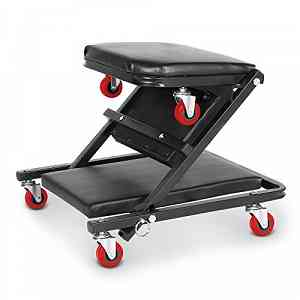 Foldable Stool Motorcycle Car Workshop 6 Wheels Professional Capacity 150KG