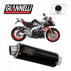 Exhaust Giannelli Black Inox X-Pro + Cat Aprilia TUONO V4 1100RR 56mm 2015 > 2016