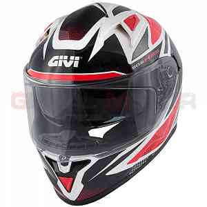 Givi Helmet Man 50.6 Stoccarda Full-face White - Red - Black H506FFWWR