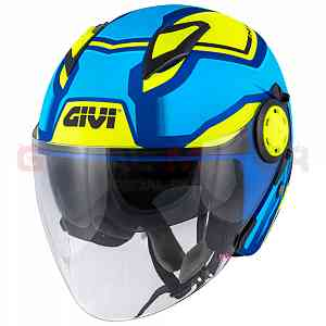 Givi Helmet Man 12.3 Stratos Jet Blue - Metallic - Yellow H123FSDLL
