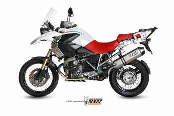 Auspuff exhaust MIVV Speed Edge Titan Carbon-endkappe Bmw R 1200 Gs 2010 > 2012