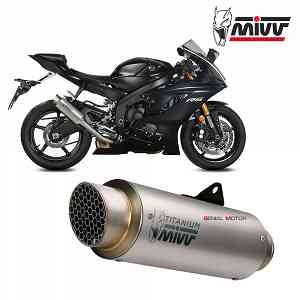 Mivv Exhaust Muffler GP PRO Titanium High kat for YAMAHA YZF 600 R6 2017 > 2019