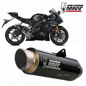 Mivv Exhaust Muffler GP PRO Carbon High kat for YAMAHA YZF 600 R6 2017 > 2019