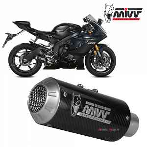 Mivv Exhaust Muffler MK3 Carbon kat for YAMAHA YZF 600 R6 2017 > 2019