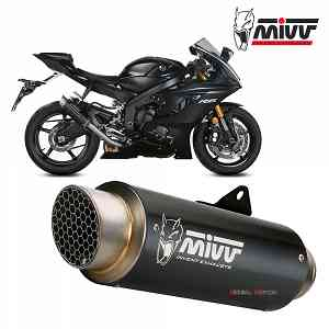 Mivv Exhaust Muffler GP PRO Black Inox black High kat for YAMAHA YZF 600 R6 2017 > 2019