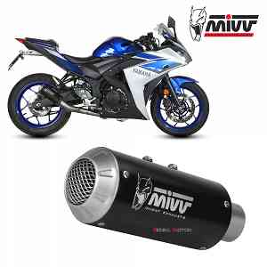 Mivv Complete Exhaust Full system Inox black for YAMAHA YZF R25 2015 > 2018