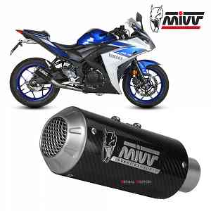 Mivv Complete Exhaust full system Carbon for YAMAHA YZF R25 2015 > 2018