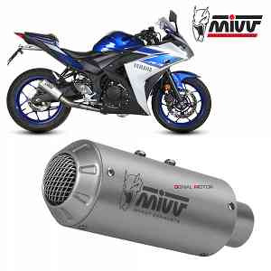 Mivv Complete Exhaust Full system Inox for YAMAHA YZF R25 2015 > 2018