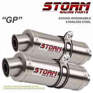 Exhaust Storm by Mivv Mufflers Gp Steel for Aprilia Rsv 1000 2004 > 2008