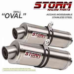 Exhaust Storm by Mivv Muffler Oval Steel for Bmw S 1000 R 2017 > 2018