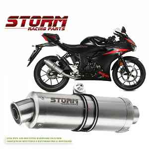 Full System Storm by Mivv Muffler Gp Steel Complete for Suzuki Gsx-s 125 {{year_system}}