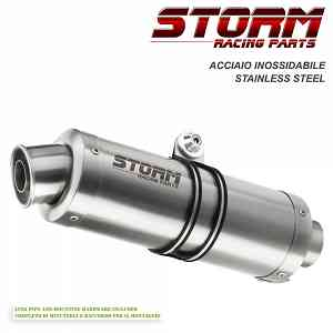 Full System Storm by Mivv Muffler Gp Steel Complete for Yamaha T-max 500 {{year_system}}