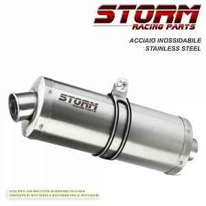 Exhaust Storm by Mivv Muffler Oval Steel for Yamaha Yzf 600 Thundercat 1996 > 2001