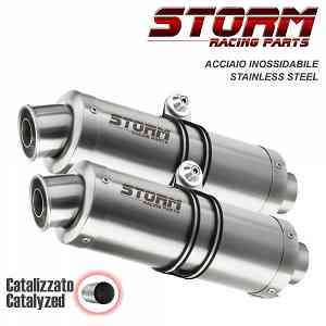 Catalyzed Exhausts Storm by Mivv Gp Stainless Steel Ducati Monster 796 2010 > 2014