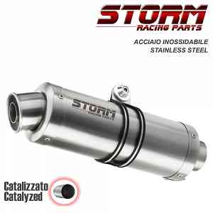 Catalyzed Exhaust Storm by Mivv Gp Stainless Steel Ducati Monster 821 2018 > 2020