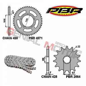 EK1107 Chain and Sprockets Kit 12 / 47 / 428 PBR APRILIA RS EXTREMA 1999 > 2001