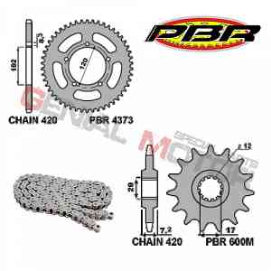 EK149 Chain and Sprockets Kit 12 / 47 / 420 PBR APRILIA RS EXTREMA 1999 > 2001