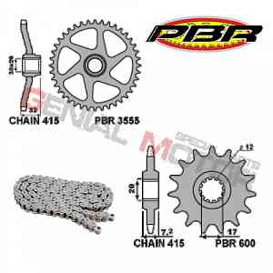 EK141 Chain and Sprockets Kit 12 / 44 / 415 PBR APRILIA RS EXTREMA 1995 > 1998