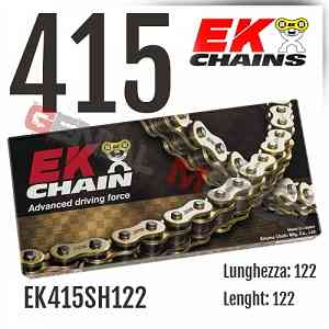 EK415SH122 Catena EK CHAINS Passo 415 - 122 maglie per APRILIA RED ROSE 1987 > 1991 50
