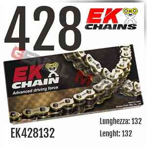 EK428132 Catena EK CHAINS Passo 428 - 132 maglie per APRILIA RS REPLICA 2001 > 2005 50
