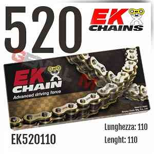 EK520110 Catena EK CHAINS Passo 520 - 110 maglie per APRILIA RALLY 1986 > 1987 125